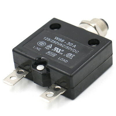 Circuit breaker Thermal overload switch protector W66 - 30A 125/250VAC/50VDC UL