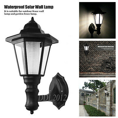Wall Mounted Solar Powered LED Outdoor Garden Landscape Yard Lights Lamp Lantern