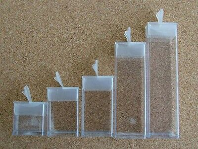 Tubes  Plastic Rectangular Flip Top Tic Tac Plastic Bead Storage 5 Sizes x 5pcs
