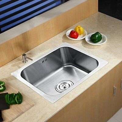 Stainless Steel Small Kitchen Sink Laundry Single 1.0 Bowl Plumbing Drainer