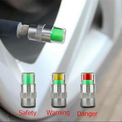 4 PCS Car Tire Pressure Monitor Valve Alert Warning Cap Sensor Indicator Eye
