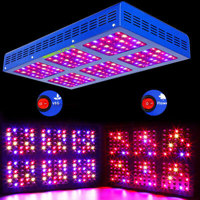 MEIZHI 900W LED Grow Light Hydroponics Full Spectrum Indoor Plant Veg Bloom IR