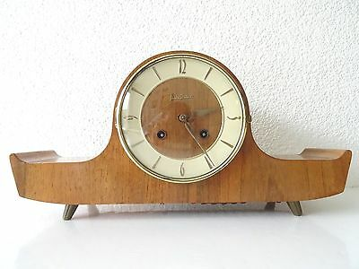 Junghans Mantel Shelf Clock Vintage Dutch Art Deco Design (Hermle Kienzle era)