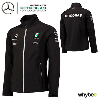 2017 Mercedes-AMG F1 Lewis Hamilton Formula 1 Team Softshell Jacket by Hugo Boss