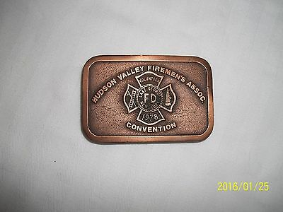 OLD Hudson Valley Fireman's Assoc. CONVENTION 1978 Copper? Firefighter