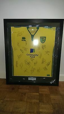 Framed Signed Norwich City Football shirt 2016 / 2017
