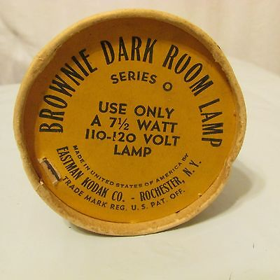 Kodak Brownie Dark Room Lamp Series 0 In Container Vintage Antique Photography