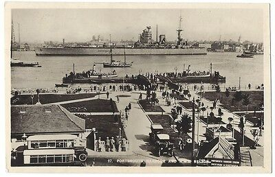 PORTSMOUTH Harbour and HMS Nelson, RP Postcard Postally Used 1950