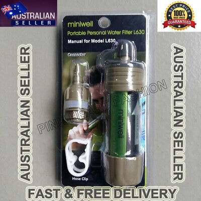 Survival Tool - Portable Personal Water Filter for Camping Hiking Safe Adventure