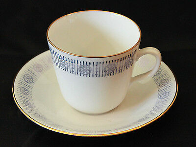 Rorstrand-Sweden-Demitasse -Coffee Cup and Saucer-Gold Gilt-VINTAGE EUC