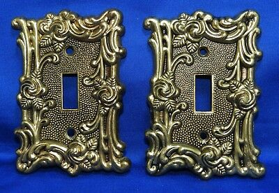 Vintage American Tack & Home Co. 1967 Ornate Victorian Style Switchplate Cover