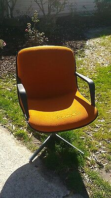 2 Vintage Steelcase Mid Century Modern Office Swivel Chairs