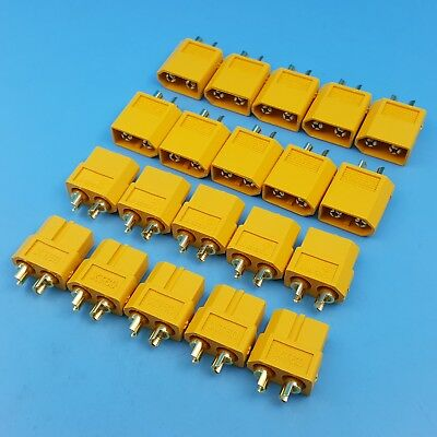 10Pairs Amass XT60 Male and Female Gold Plated Bullet Plug RC Battery Connector