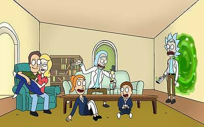 "239 Rick and Morty - American Adult Animated TV Series 38""x24"" Poster"
