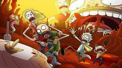 "272 Rick and Morty - American Adult Animated TV Series 42""x24"" Poster"