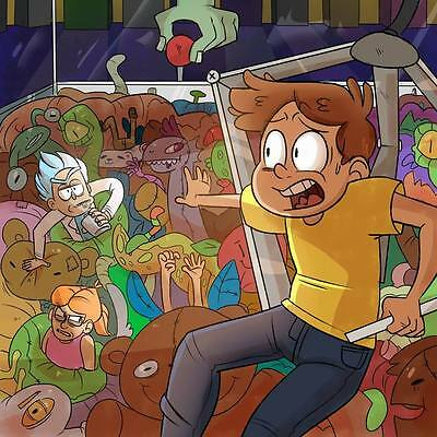 "262 Rick and Morty - American Adult Animated TV Series 24""x24"" Poster"