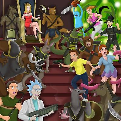 "235 Rick and Morty - American Adult Animated TV Series 24""x24"" Poster"