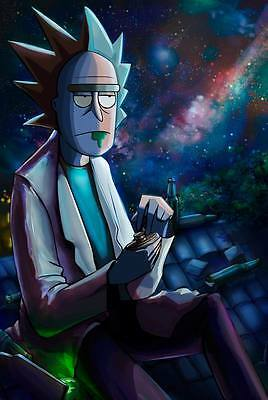"289 Rick and Morty - American Adult Animated TV Series 24""x35"" Poster"
