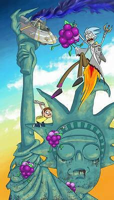 "281 Rick and Morty - American Adult Animated TV Series 24""x42"" Poster"