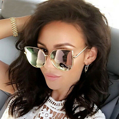 Womens Large Oversized Metal Frame Butterfly Shape Quality Fashion Sunglasses