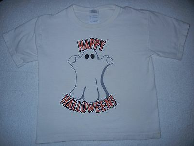 Girls/boys Halloween Gildan T-Shirt Featuring Ghost Size S-Youth Euc
