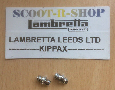 Lambretta Grease Nipples - Chrome . Pack Of 2. Fork Link Type