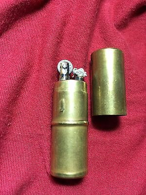 Vintage Old Brass Lighter Antique Collectible Petrol Survival Outdoor