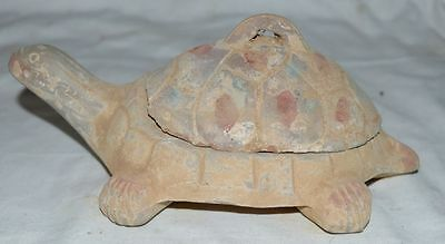 Chinese Ancient Old Clay Bury Antiuqe Tomb Burn Ink Stone Tortoise Statue Rare砚台
