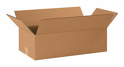 "Box Partners Long Corrugated Boxes 20"" x 10"" x 6"" Kraft 25/Bundle 20106"
