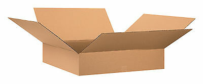 "Box Partners Flat Corrugated Boxes 28"" x 28"" x 6"" Kraft 10/Bundle 28286"