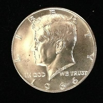 1966 50C Kennedy Half Dollar Gem BU