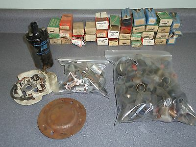 Large Wholesale Vintage Parts Store Lot Ignition Distributor Points Condensers