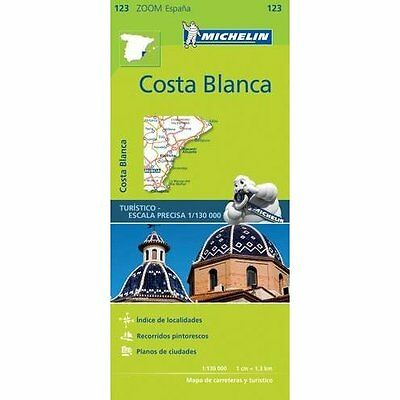 Costa Blanca Zoom Map 123 Michelin Editions des Voyages Sheet map. 9782067217898