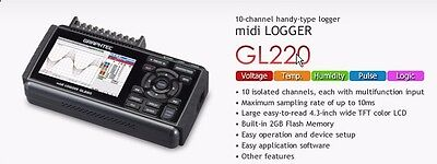 GRAPHTEC CORP GL220 midi Data Logger - Never Used