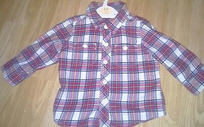 baby Gap checked shirt 6-12 months