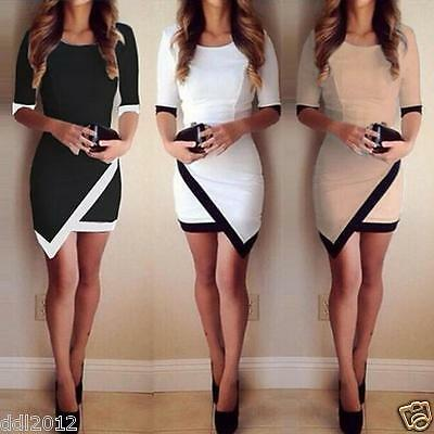 Fashion Women's Summer Bandage Bodycon Evening Party Cocktail Short Mini Dress