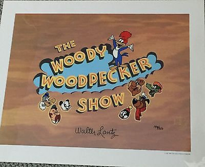 Hand Painted Limited Edition Woody Woodpecker Facsimile Signature Walter Lantz