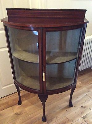 Edwardian Bow Fronted Display Cabinet
