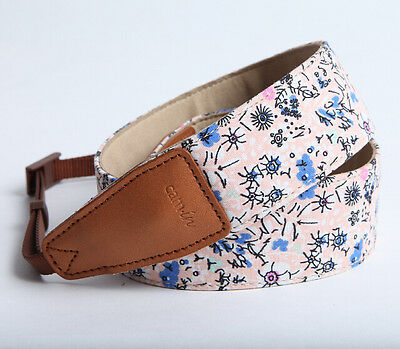 DSLR Camera Strap by Cam-in - Pink with flower pattern