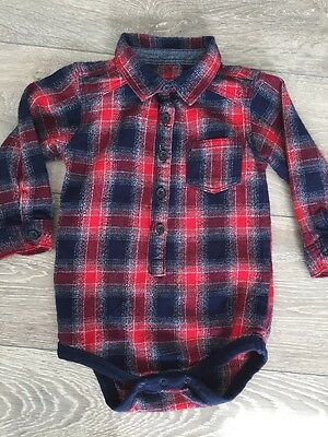 Baby Boys Nutmeg Check Shirt Age 12-18 Months