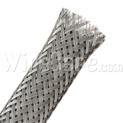 "SSN1.00SV - Flexo - Braided Stainless Steel - 1"" - 5 Ft Cuts"