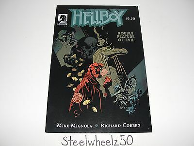 Hellboy Double Feature Of Evil #1 Mike Mignola Variant Comic Dark Horse 2010 0B