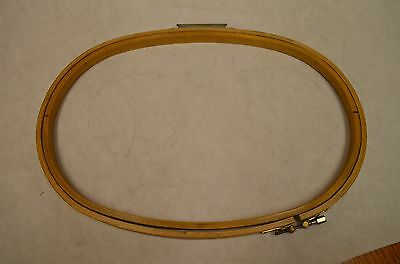 """Melco EMC 16"""" x 11"""" DH Oval Wood Industrial Embroidery Machine Hoops"""