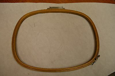 """Melco EMC 16"""" x 12 DH RECT Wood Industrial Embroidery Machine Hoop"""