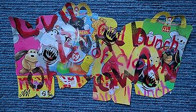 neverwork McDonald's Evil Bunch of Clowns signed limited edition painting 2/50.