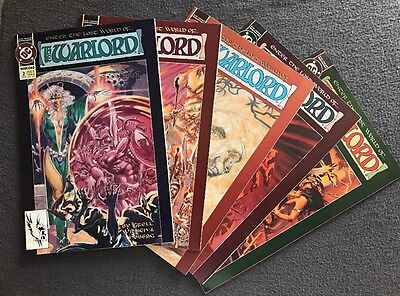 The Warlord 2,3,4,5,6 Lot of 6 by Grell, Willich and Hoberg DC (1992) VF+