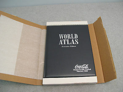 Leather Bound Hammond World Atlas Executive Edition 2005 Coca Cola Global Summit