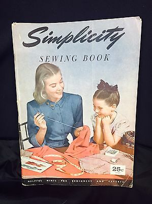 Vintage 1947 Original Simplicity Sewing Book. Softcover. Good.