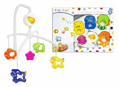 First Steps Musical Mobile for Baby Cot Suitable From Newborn 0+