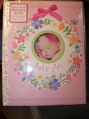 Stepping Stones Baby's First Memory Baby Girl Pink Flowers Bow Photo Memory Book